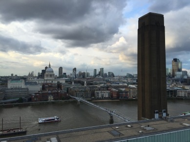 Looking North from the 10th floor of the Switch House at The New Tate Modern, London. Photo credit Kelise Franclemont.