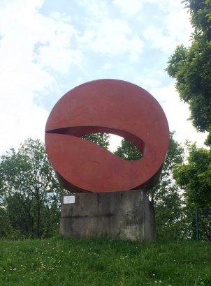 Marta Pan (Hungary), 'Sculpture', 1969, polyester and stainless steel, in Musée de la Sculpture en Plein Air, Paris. Photo credit Kelise Franclemont.