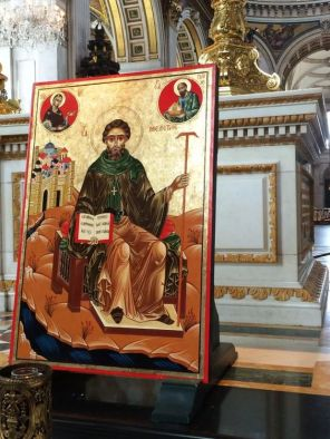 An icon of St Mellitus at at St Paul's Cathedral, London. Image courtesy Pinterest.com