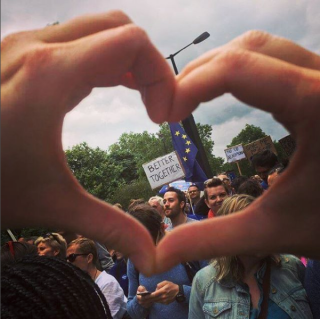 From March for Europe, London, 2 July 2016. Photo credit Kelise Franclemont.