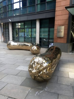 Sarah Lucas, 'Florian/Kevin', 2016, in Sculpture in the City 2016, London. Photo credit Kelise Franclemont.