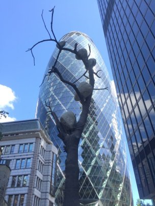 Giuseppe Penone, 'Idee di Pietra - 1372 kg di Luce', 2016, in Sculpture in the City 2016, London. Photo credit Kelise Franclemont.