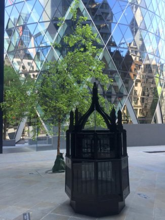 Mat Collishaw, 'Magic Lantern Small', 2016, in Sculpture in the City 2016, London. Photo credit Kelise Franclemont.
