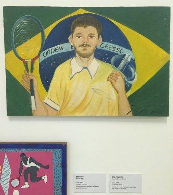 Dag Franca, 'Guga (Gustavo Kuerten)', 2000, oil on canvas, Museu Internacional de Arte Naïf do Brasil, Rio de Janeiro. Photo: Kelise Franclemont.