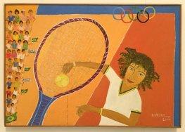 Berenic, 'Guga', 2001, acrylic on canvas, Museu Internacional de Arte Naïf do Brasil, Rio de Janeiro. Photo: Kelise Franclemont.