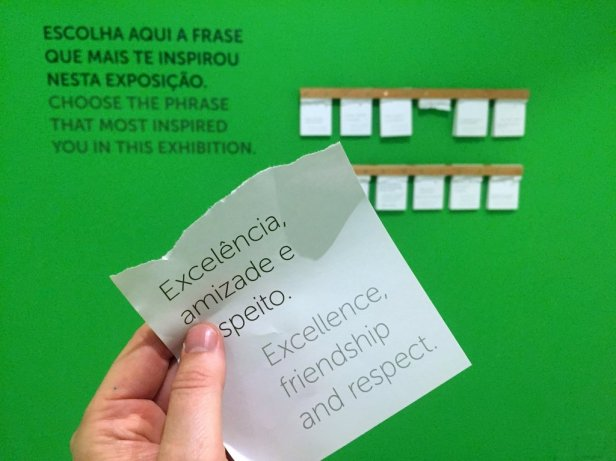 An interactive piece for the visitor, Museu Internacional de Arte Naïf do Brasil, Rio de Janeiro. Photo: Kelise Franclemont.