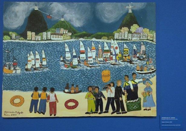 Aparaecida Azedo, 'Regata Olimpica', 2001, acrylic on canvas, Museu Internacional de Arte Naïf do Brasil, Rio de Janeiro. Photo: Kelise Franclemont.