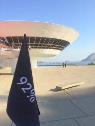 Filippe Moraes, 'Progressão [Progression]', 2016, installation of flags (detail), Museu de Arte Contemporânea (MAC) de Niterói, in the region of Rio de Janeiro, Brazil. Photo: Kelise Franclemont.
