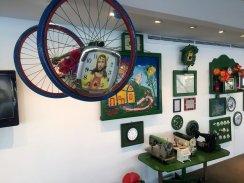 Ignes Albuquerque, Priscilla Grimberg, Hernandez Jose da Silva, 'Rancho Verde - Escultura Viva', 2010, installation, at Museu de Arte Contemporânea (MAC) de Niterói, in the region of Rio de Janeiro, Brazil. Photo: Kelise Franclemont.