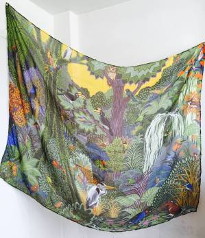 Limited edition print scarf by Alice Shirley. Image courtesy the artist.