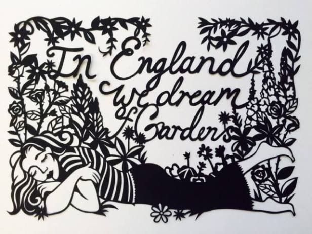 Poppy Chancellor, 'In England we dream of Gardens', 2016, paper cut. Image courtesy the artist.
