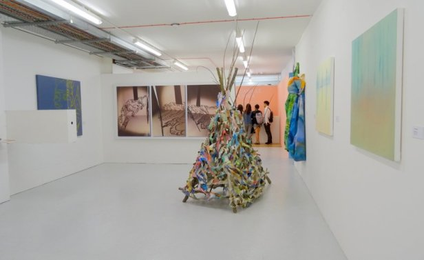 Installation view, Susan Marie Douglass, in 2016 MA Fine Art Postgraduate Summer Show at Chelsea College of Arts, London. Photo credit Kelise Franclemont.