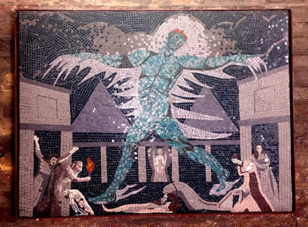 Southbank Mosaics group, after William Blake, 2007-2014, in 'Blake's Lambeth', Carlisle Lane, Waterloo, London. Photo credit Kelise Franclemont.