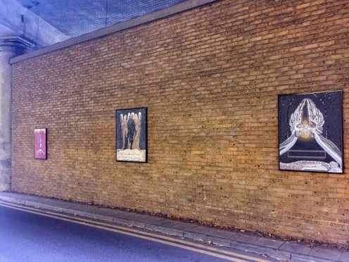 Southbank Mosaics group, after William Blake, 2007-2014, installation view, in 'Blake's Lambeth', Carlisle Lane, Waterloo, London. Photo credit Kelise Franclemont.