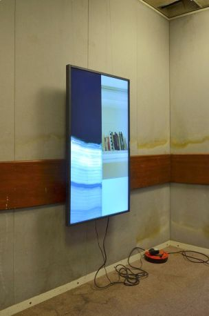 Paul Abbott, 'Interview Room', 2016, flat screen monitor, in 'The Room is the Resonator', at The Old Police Station, Deptford, London. Image courtesy the artist.