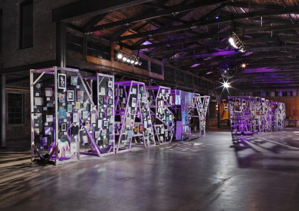 Entrance to 'Nasty Women' exhibition in Knockdown Center, Queens, NYC. Image courtesy ARTnews.com