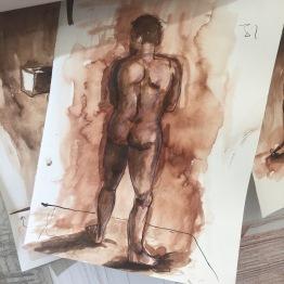 Kelise Franclemont, 2016, ink on paper, at Royal Drawing School. Image courtesy the artist.