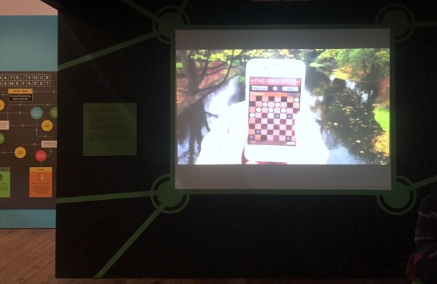 Virtual Chess, 2010s, interactive game with smartphone, V&A Museum of Childhood, London. Photo credit Kelise Franclemont.