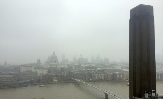 View of St Paul's Cathedral from 10th floor terrace at Switch House, Tate Modern. Photo Kelise Franclemont.