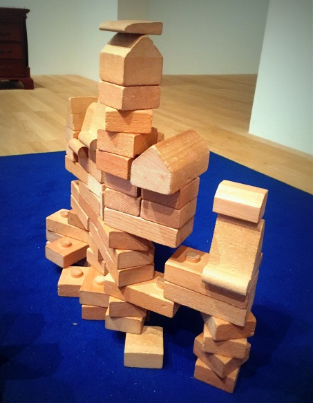 Kelise Franclemont, 2017, 'Artist Blocks overcome', wooden blocks, at Tate Modern. Image courtesy the artist.