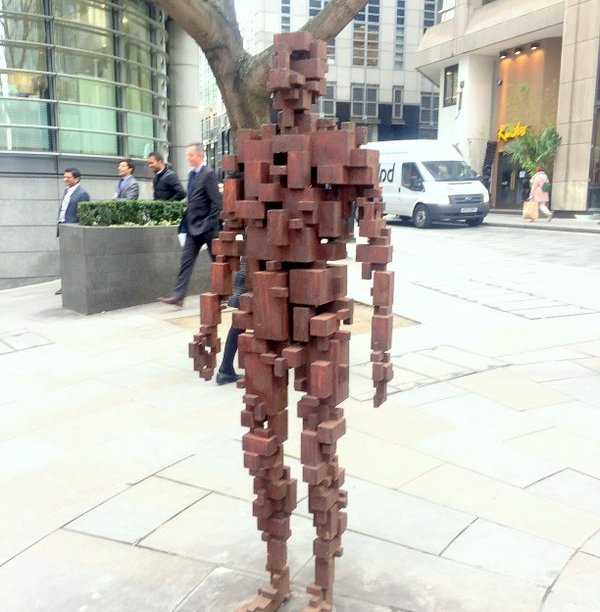 Antony Gormley, 'Resolution', 2007, bronze?, corner of Shoe Lane and St Bride street, London. Photo credit Kelise Franclemont.