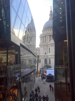 Gavin Turk, 'Nail', 2011, bronze (St Paul's Cathedral in the background), One New Change, EC4, London. Photo credit Kelise Franclemont.