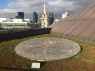 Boris Anrep, 'Ariel', 1957, floor mosaic, roof terrace at One New Change, EC4, London. Photo credit Kelise Franclemont.