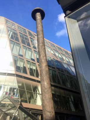 Gavin Turk, 'Nail', 2011, bronze, One New Change, EC4, London. Photo credit Kelise Franclemont.