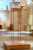 Kelise Franclemont, 'Prayer for Rain', 2017, hologram, copper, and sound, in 'Stations of Water' at St Paul's Cathedral, London. Image credit Graham Lacdao.